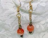 Dragons Vein Agate Earrings, Dangle Earrings, Ladies Earrings