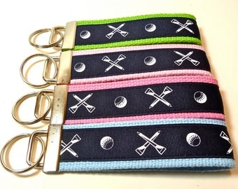 Golf - Wristlet Key Fob - Webbing - Golf Gifts - Gifts Under 10