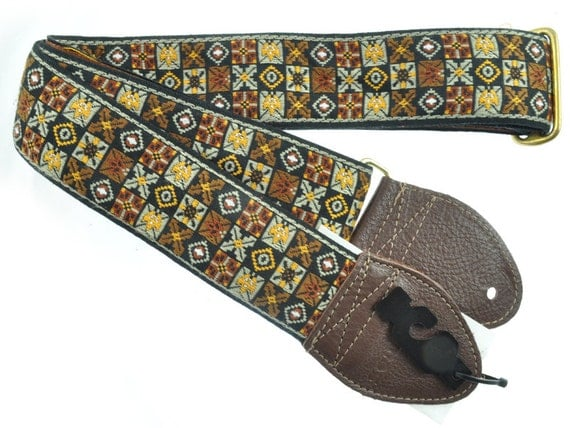 "Souldier ""Woodstock - Brown"" Custom Handmade Vintage Guitar Strap"