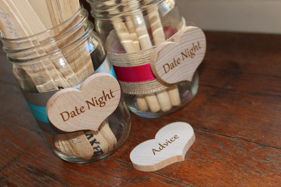 Bridal Shower Game, Baby Shower Game, Marriage Advice for the Bride and Groom, Date Night Ideas - JAR ONLY