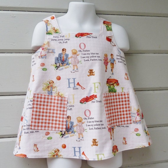 Special Custom Order for CathieHooks Vintage Style Reversible Smock Size 3T