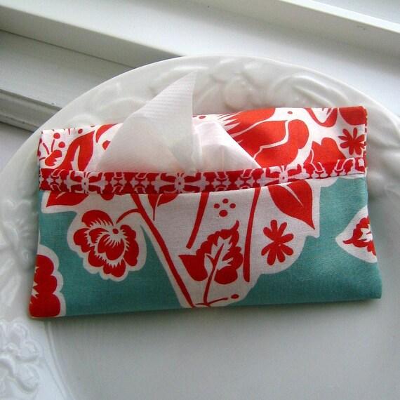 Travel Tissue Case, Kleenex Case, Tissue Holder, Tissue Tote, Kleenex Holder, Tissue Cozy - No. 77