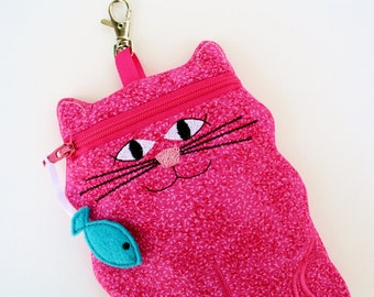 iPhone 6 case Pink Cat shaped cell phone case gadget case