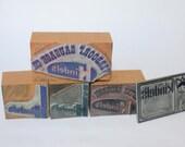 Vintage Letterpress - KINDELS SAUSAGE Collection - Printers Block, Type Setting, Oregon