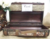 Rustic Small Wedding Card Box with Banner