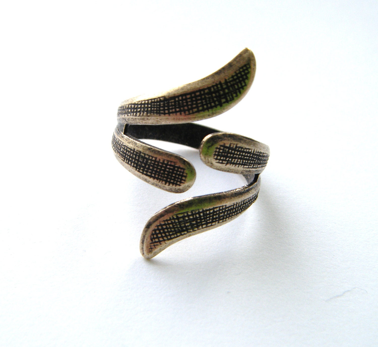 1 asian style ring adjustable antique ox brass jewelry