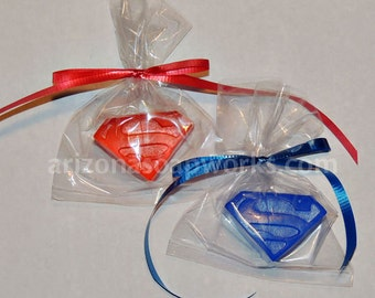 100 Superman Soaps - Party Favor - Birthday - Individually Wrapped
