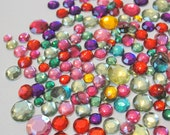 Acrylic Flatback Jewel Toned Round Gems for Crafts
