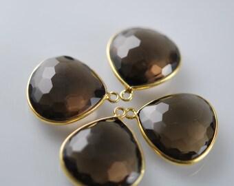 2 matching smokey quartz ball faceted pendants 20.00 ON SALE 18.00