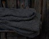 SALE vespertine hand dyed vintage bedspread large throw