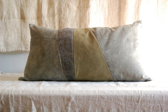 RESERVED FOR BRITT borderlines series cushion organic hand dyed