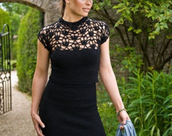 Garden Party - a two piece crocheted sheath dress - skirt and top set 50% off!