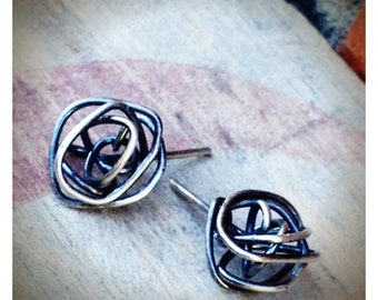 Sterling Silver Knot Post Earrings