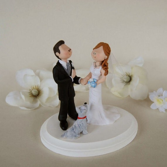 etsy wedding cake topper dog items similar to custom made wedding cake topper 14051