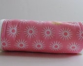 CLOSEOUT SALE - Organic Collection Burp Cloth - Pink Starburst