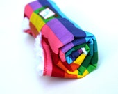 Baby Changing Pad with Rainbow Color Fabric Roll Up Made to Order