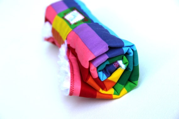 Baby Changing Pad with Rainbow Color Fabric Roll Up Ready to Ship
