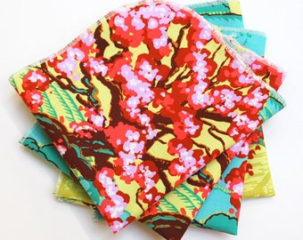 FREE OFFER Reusable Cloth Napkins - Set of 4- Amy Butler Cameo Spring's Beauty Scarlet