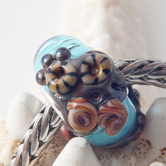 Big Hole / Slider Bead - TIDE POOL - Lampworked