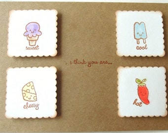 I Think You Are Multiple Choice - Handmade Love/Anniversary/Valentine Greeting Card