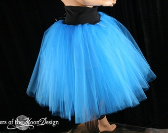 Turquoise Victorian Romance Tutu skirt extra poofy knee length Adult dance costume -- You Choose Size -- Sisters of the Moon