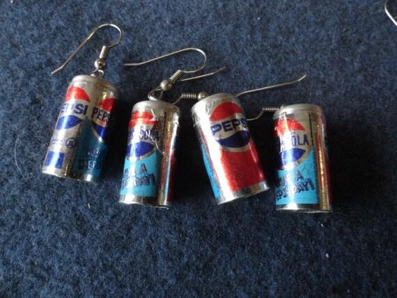 Mini Pepsi Can Earrings 2 Pair 315 VJ