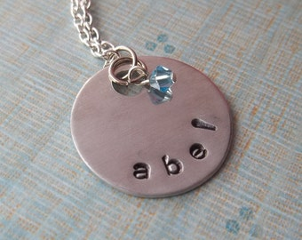 Personalized Handstamped Name Necklace