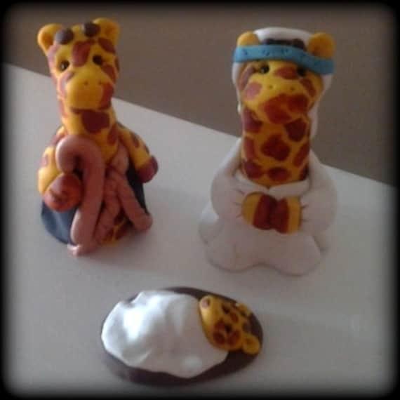 Giraffe Nativity 3 piece set