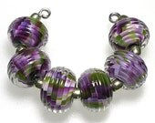 LeahBeads-Fall Harvest-Lampwork Beads