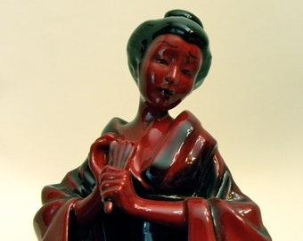 Royal Doulton Flambé Figurine  THE GEISHA