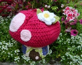 Boutique Crochet Spring Fairy Mushroom House Purse