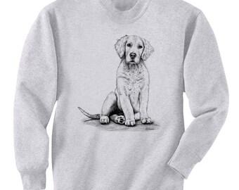 Golden Retriever Dog Art Men's Sweatshirt Small - 2XL