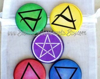 SACRED SYMBOLS Pocket Altar Talismans Witch Wicca Wiccan Pagan Gothic