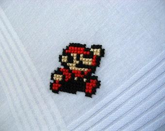 Mario handkerchief - Nintendo cross stitch - Made To Order