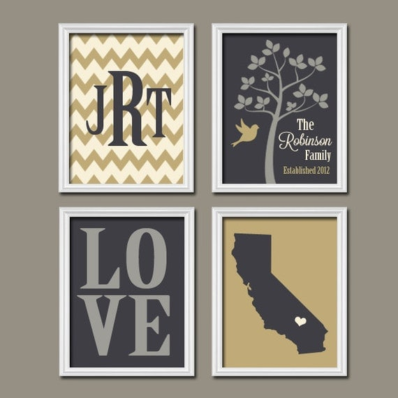 family tree custom wall art canvas or prints chevron by. Black Bedroom Furniture Sets. Home Design Ideas
