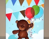 Handmade Happy Birthday card with Barry the Bear