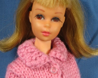 Francie Clothes - Rose Pink Sweater and Blue Bandana Skirt set