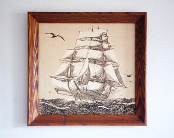 Vintage Nautical Tall Ship Art