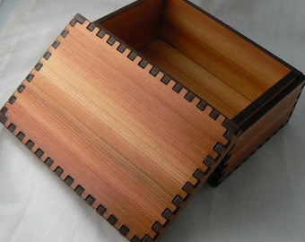 4 7/8 x 3 1/8 x 2 1/8 Small Cedar  Stash Box
