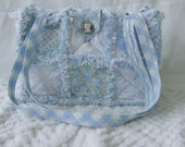 Rag Quilt Purse Tote Diaper Bag Instructions Pattern How To