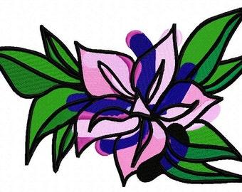 Art Flower Machine Embroidery Design from Letzrock  2398