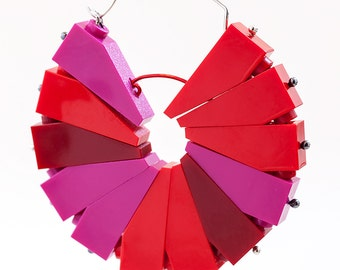 Cherry Pomme Pinwheel Hoop earring