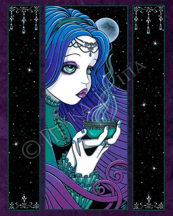 Soma Magical Gothic Moon Fairy  8x10 Signed PRINT