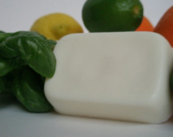 Citrus Basil Goat's Milk Soap - Herbal Citrus Unisex Fragrance