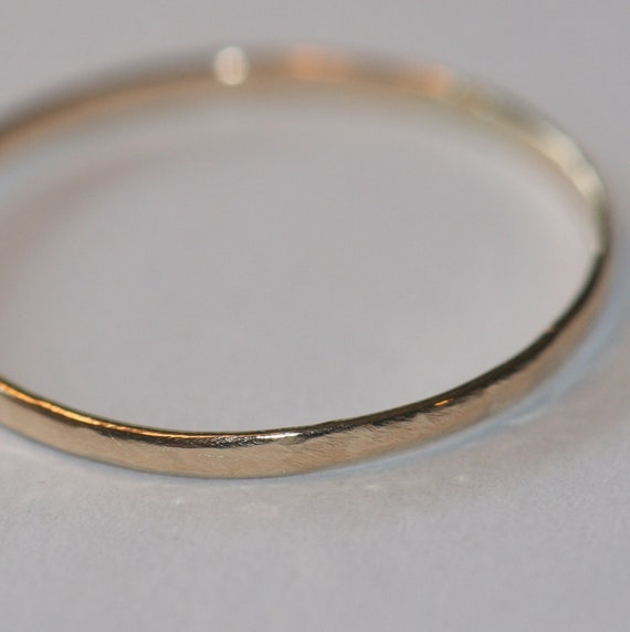 solid 14k gold ring thin stacking ring gold band size 7