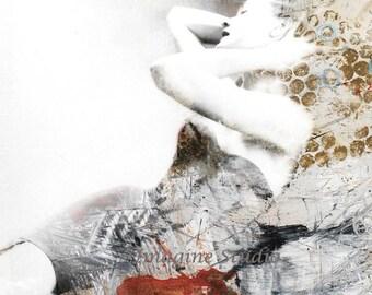 Fine Art Print,  Giclee Print, Woman Portrait, Collage, Photomontage, Photography,