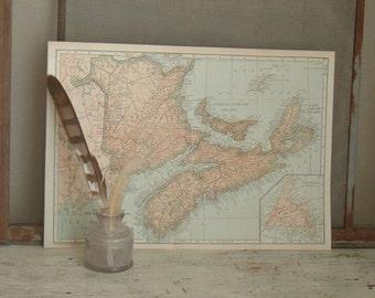 vintage map The Maritime Provinces 1921