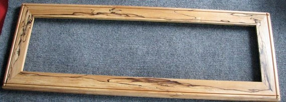 8x28 Spalted Rock Maple Picture Frame