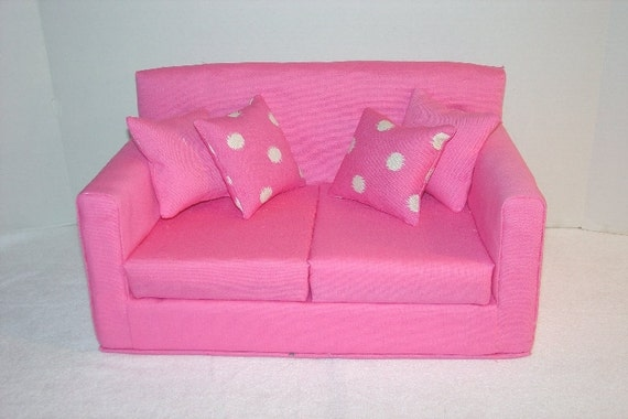 Rose Pink Doll Sofa fits American Girl 18 by MaJeansCreation : il570xN37648815193ni from www.etsy.com size 570 x 380 jpeg 35kB