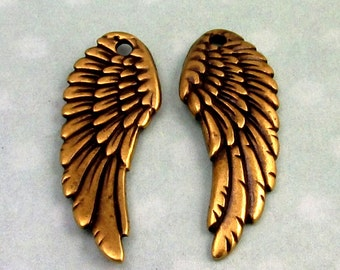 Tierracast Angel Wing, Brass Ox, 2 Pc. TB9